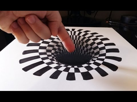 Cómo dibujar un Hoyo efecto 3D