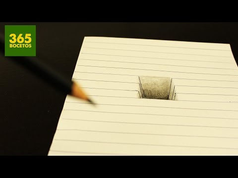 Como dibujar un Hoyoefecto 3D fácil