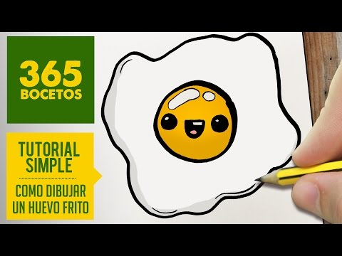 Como dibujar un huevo frito kawaii