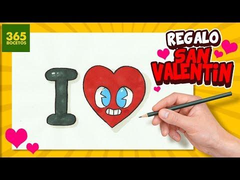 Como dibujar un I Love You para San Valentín