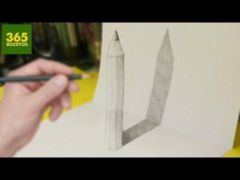 Como dibujar un Lápiz en 3D