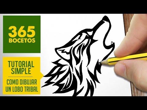 Como dibujar un lobo tribal