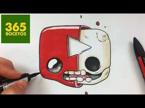Como dibujar un Logo de Youtube roto kawaii
