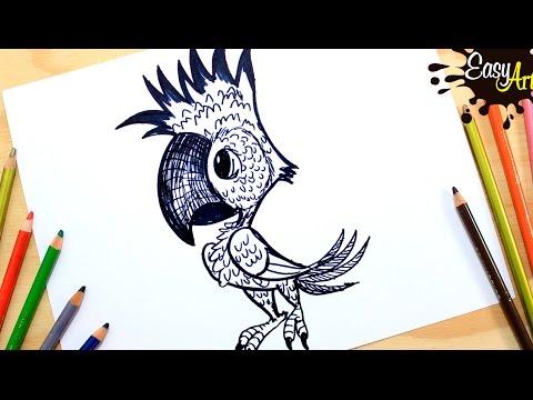 Como dibujar un Loro fácil