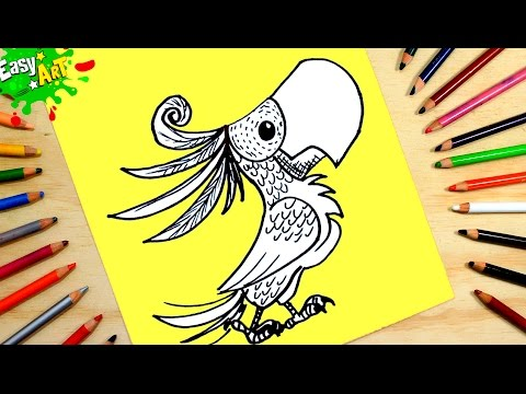 Como dibujar un Loro