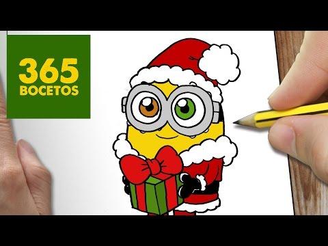 Como dibujar un Minion de Navidad