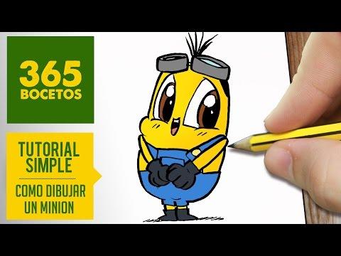 Como dibujar un Minion kawaii fácil