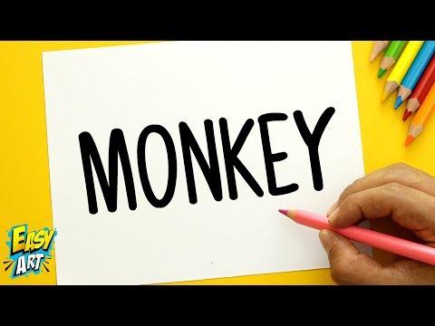 Como dibujar un Mono a partir de sus letras