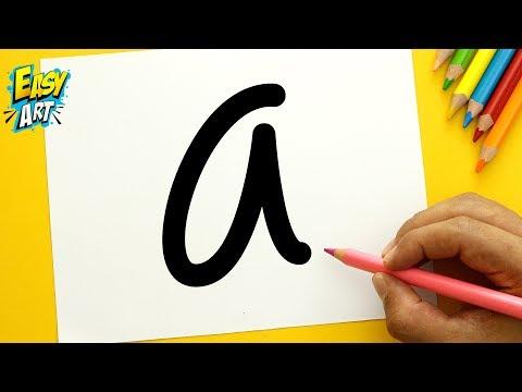 Como dibujar un Monstruito a partir de la letra A