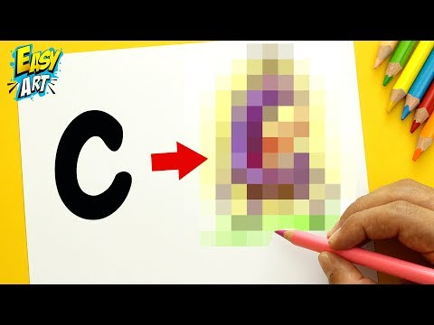 Como dibujar un Monstruo a partir de la letra C