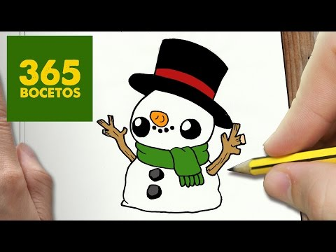 Como dibujar un muñeco de nieve