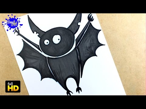 Como dibujar un Murciélago para Halloween