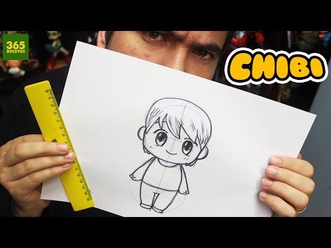 Como dibujar un niño Chibi
