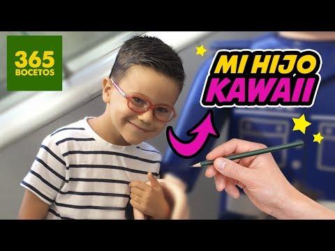 Como dibujar un Niño kawaii