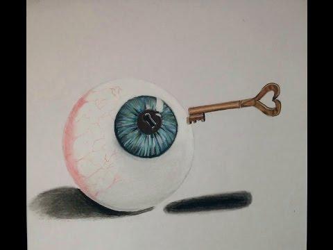 Cómo dibujar un Ojo con una llave