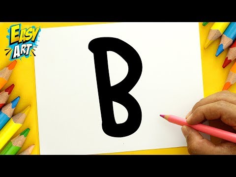 Como dibujar un Oso a partir de la letra B