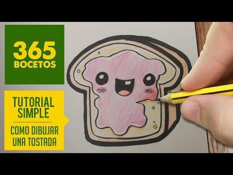 Como dibujar un pan de molde con mermelada