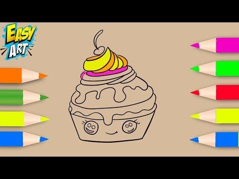 Como dibujar un Pastel kawaii
