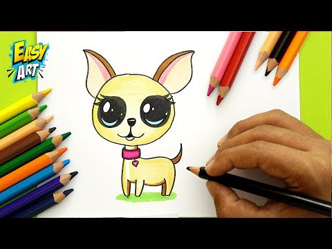 Como dibujar un perrito estilo CUTE