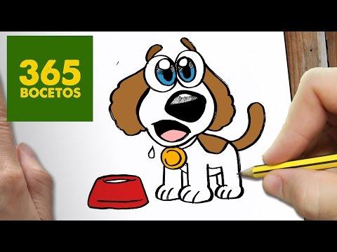 Como dibujar un perrito kawaii paso a paso