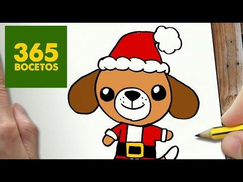 Como dibujar un Perrito navideño