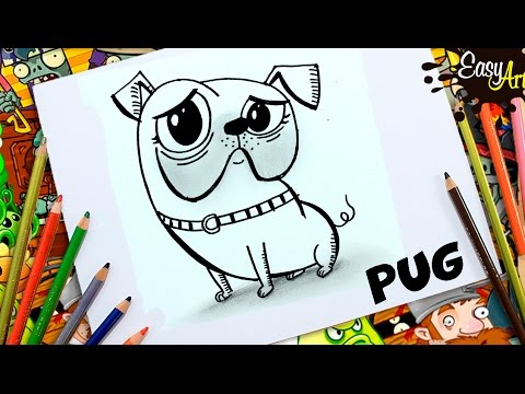 Como dibujar un perrito Pug