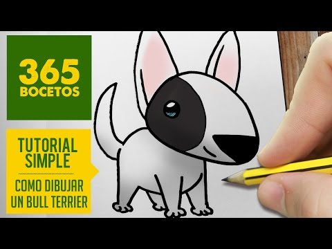 Como dibujar un perro Bull Terrier