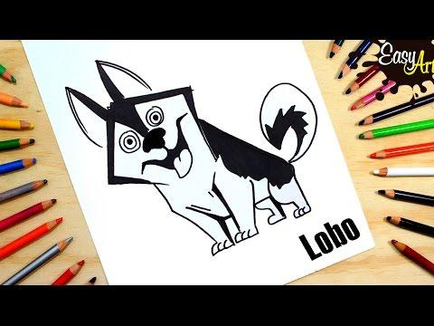 Como dibujar un perro Husky fácil