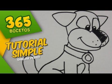 Como dibujar un perro sencillo
