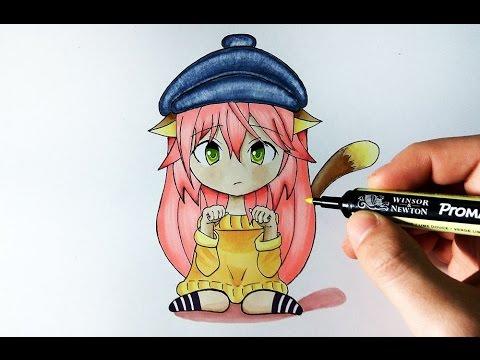 Como dibujar un personaje de Anime con 12 colores