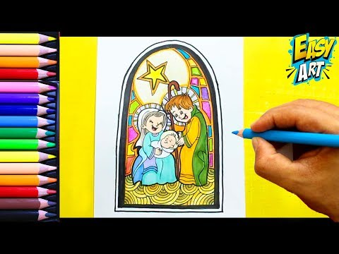 Como dibujar un Pesebre para Navidad