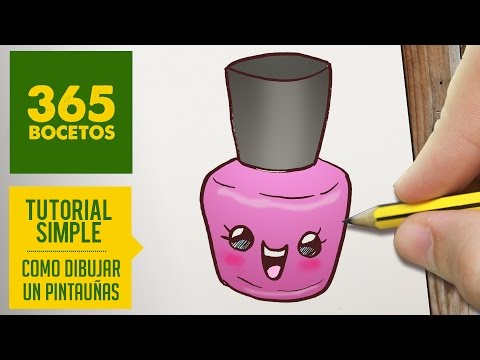 Como dibujar un pinta uñas divertido