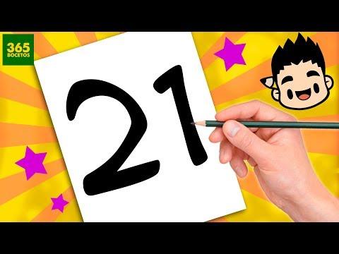 Como dibujar un pollo a partir del número 21