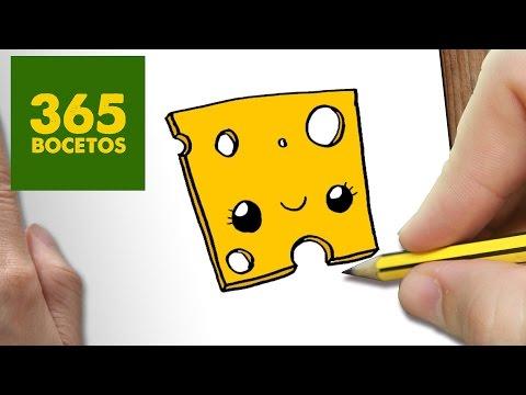 Como dibujar un queso emental con cara