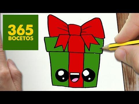 Como dibujar un regalo de Navidad