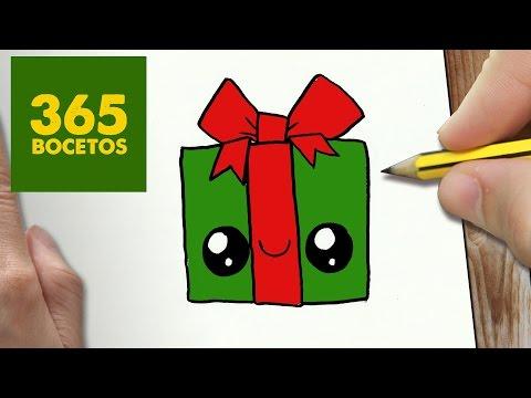 Como dibujar un regalo kawaii