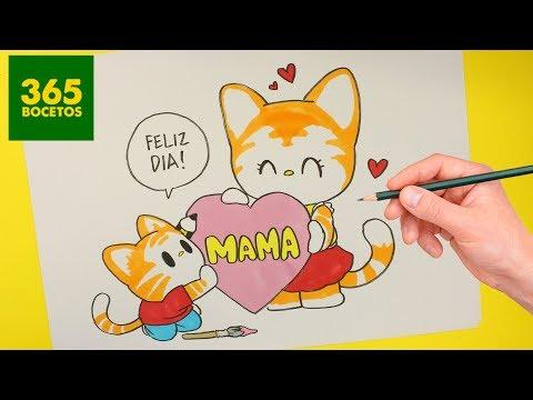 Como dibujar un regalo para el Día de la Madre