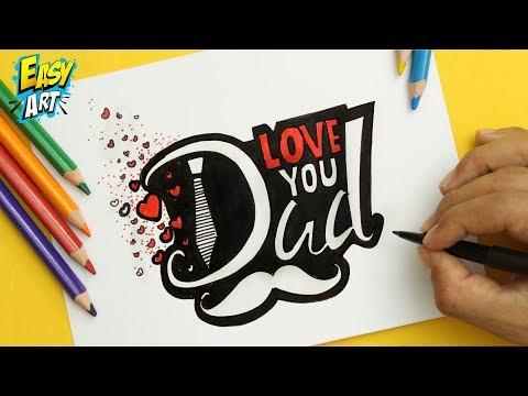 Como dibujar un regalo para el Día del Padre