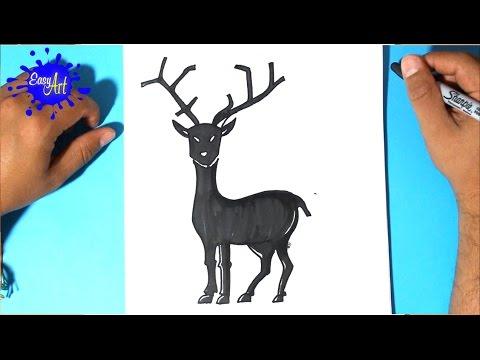 Como dibujar un Reno de Navidad