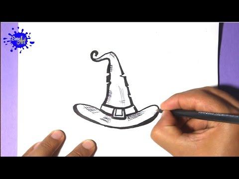 Como dibujar un Sombrero para Halloween