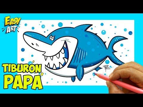 Como dibujar un Tiburón fácil paso a paso