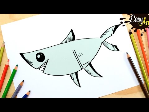 Como dibujar un Tiburón fácil