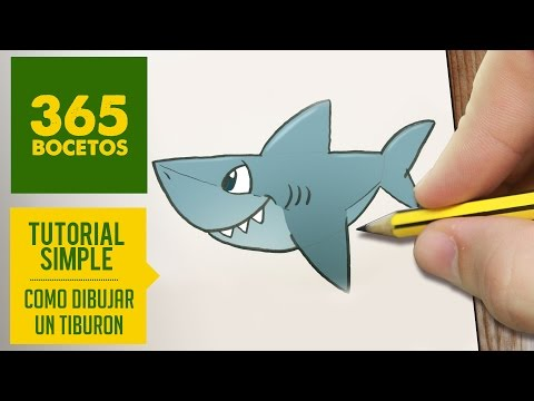 Como dibujar un Tiburón simpático