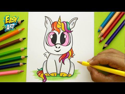 Como dibujar un Unicornio CUTE