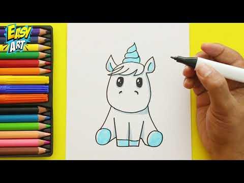 Como Dibujar Un Unicornio De Arcoiris