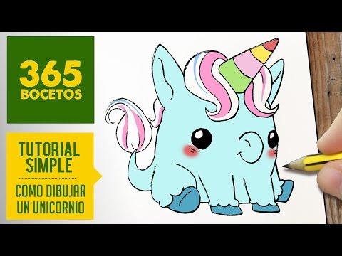 Como dibujar un Unicornio Kawaii