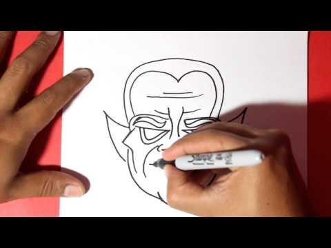 Como dibujar un Vampiro de Halloween