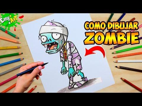 Como dibujar un Zombie de Halloween