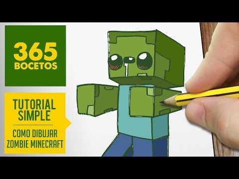Como dibujar un Zombie de Minecraft