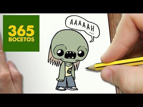 Como dibujar un Zombie terrorífico